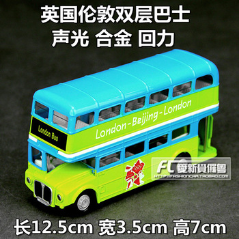 Alloy car models vintage bus full alloy shell alloy car model toy car