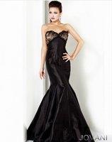 2013 New Arrival !A-line sweet neckline sheath taffeta mermaid black custom-made mother of the bride dress