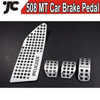 Free Shipping Car Gas,Clutch Pedal Metal Brake Pedal Car Parts for Peugeot 508 MT  Car Brake Pedal