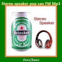 Stereo speaker pop can FM Mp3