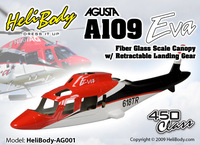 FREE Shipping Coast Gaurd Agusta A-109/A109 in 500 size fuselage blue W/retracts&Parts -fuselage wholesale