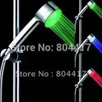 Free Shipping New Cheap Sale Romantic 3-LED Light Water Bathroom Shower Head RGB, Wholesale