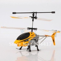 2012 High quality New Remote Control 3 Channel 3CH Metal Infrared RC Helicopter with GYRO U802 , Yellow Available+Wholesale