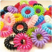 100pcs/lot,Korean jewelry Telephone line hair ring hair rope, (H155)