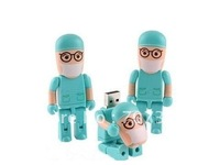 Hot Sell Surgeon Doctor Dentist Blue USB 2.0 Flash Pen 8-32GB Memory Drive Stick Thumb& Free ship