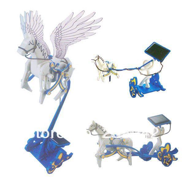 New Solar Toys Pegasus Kits 3 in 1 DIY Solar Robot Experimenters Kit With 3 Models Gift Free Shipping,1 set(China (Mainland))