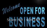 LB751-TM Welcome OPEN For Business Shop Neon Light Sign. Advertising. led panel