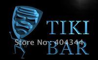LB734- Tiki Bar Mask Funny Bar Pub Beer Neon Light Sign  hang sign home decor shop crafts led sign