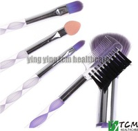 5pcs Cosmetic Makeup Brush Set Eyelash Lip Brush Eyeshadow Sponge