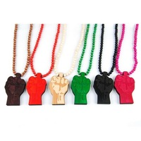 Цепочка с подвеской Hip hop good wood jordan wooden pendant necklace for men