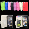 Wallet Leather Case Pouch with Credit/Business/ID card Holder For iPhone 5 5G, Free shipping+100pcs