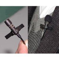 "lavalier Lapel Tie-clip Microphone (1/8"" 3.5mm Screw Lock)For Wireless Bodypack Transmitte Microphone System"