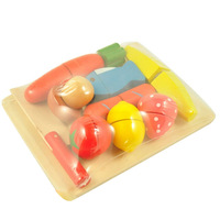 Child toy fruit vs qieqie look artificial tableware kitchen toy set