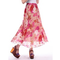 FREE SHIPPING special offer 2012 fashion chiffon beach Bohemia long skirt