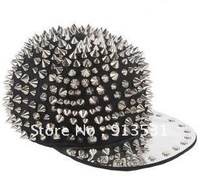 Free shipping Newest designer PUNK style Pointed rivet hip-hop women and men  caps and Visors