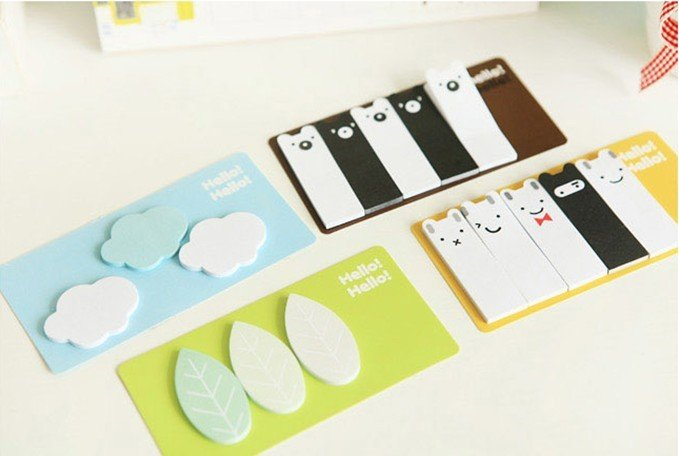 Free Shipping /New Cute Forest story Notepad / sticky note Memo / message post / 4 designs mix / Wholesale(China (Mainland))