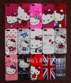 DHL Free Shipping Cartoon Car Hello Kitty Lovely Hard Plastic Back Case For Newest Iphone 5 Iphone5 5G