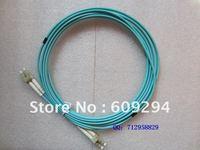 LC to LC OM3 Multimode Fiber Optic Cables Aqua 10 gig laser-optimized 50/125 micrometer multi-mode optical fiber