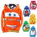 9.25 big children's clothing sweatshirt male child baby child plus velvet thickening fleece female child hoodie y01