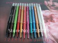 (24PCS/LOT)FREE SHIPPING NEW EYESHADOW & EYELINER PENCIL EYE SHADOW EYE LINER mix 12 colours