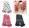cotton baby socks lace leg warmers knee pad children legging Kids toddler High socks stocking 3color mix LHL040(China (Mainland))