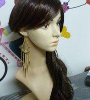 Queen punk rivet tassel earrings drop earring accessories