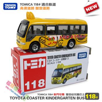 Tomy dume card car artificial alloy car model toy 118 TOYOTA bus