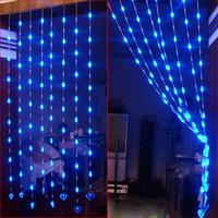 Entranceway partition decoration crystal bead curtain decoration 1 meters bead curtain heart led lights