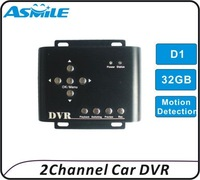 2ch car dvr recorder cctv mini dvr with auto motion detection