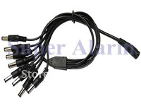 free shipping 5 Pcs /lot 1 to 8 DC Power Adapter Splitter Cable for Security CCTV Camera Systems