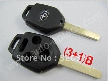 Hot selling Subaru remote key shell 3+1 button ,free shipping