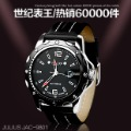 Julius wowed genuine leather mens watch male vintage table rhinestone jelly table