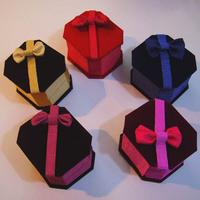 Quality flannelet box plastic box ring box stud earring box jewelry box packaging box