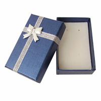 Carton jewelry box lovers box stud earring ring box 5 x8 pearlizing navy blue bracelet box