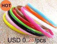 Free shipping+45pcs/lot+Fashion Candy Color Good elasticity Hair accessories,Hair band,head wear,0.8cm