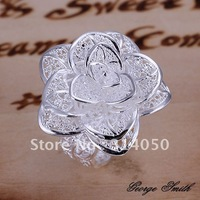 GSSPR116/Promotion,free shipping,high quality silver ring jewelry,Fashion jewelry,wedding flower  ring,wholesale,factory price