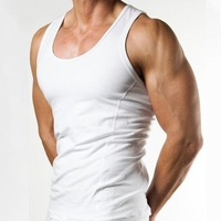 COMPRESSION TANK MEN LIGHT SERIES TOP SLIM T-SHIRT A-SHIRT SEXY COTTON GYMWEAR
