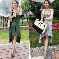 2012 women's thread cotton full dress one-piece dress irregular skirt comfortable 3 3014
