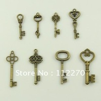 80PCS Free shipping metal craft arts 3D key model home decoration gift desk office DIY  Accessories