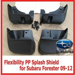 Free shipping 4Pcs/set Improved PP Splash Shield for Subaru Forester 2009-2012 Mud Flaps Good Flexibility(China (Mainland))