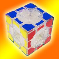 Lanlan 3x3x3 hollow magic cube black white transparent free air mail