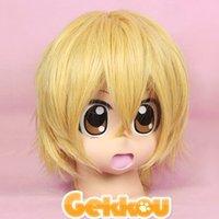 Usui Takumi Short Yellow Full Party Customs Cosplay wig G40