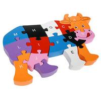 multicolour cow digital letter puzzle for children educational toy boy toys