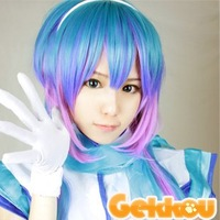 VOCALOID3 AOKI RAPIS Long mix Color Full Party Customs Cosplay wig G47