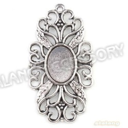 21pcs/lot High Quality Photo Frame Charms Carved Flower&amp; Grass Antique Silver Plated Zinc Alloy Pendant Fit Jewelry DIY 143365(China (Mainland))