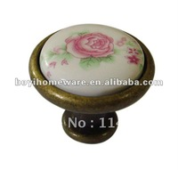 Pink rose furniture knob wholesale and retail shipping discount 100pcs/lot Y41-AB