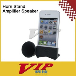 Horn Stand Amplifier Speaker for Apple iPhone 4 - Black,free shipping(China (Mainland))