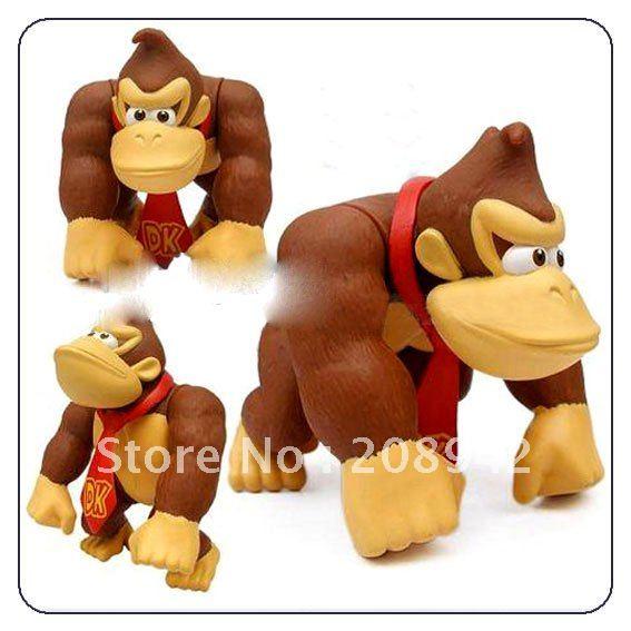 Best selling!! Super Mario Bros DONKEY KONG Action Figure Toy Xmas toys Free shipping,1 pcs(China (Mainland))