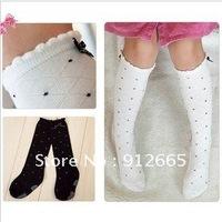 24pairs/lot Dot design girl's dance socks children leg warmers kid's high knee socks Free Shipping