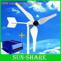 DHL free shipping 100w wind generator +100w wind solar hybrid controller for LED street lamp